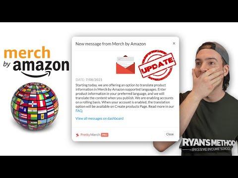 AMAZON MERCH UPDATE: Automatic Translations