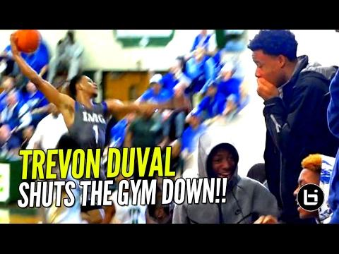 Trevon Duval SHUTS GYM DOWN vs Kyrie Irving's Old High School! IMG vs St Patrick FULL Highlights!