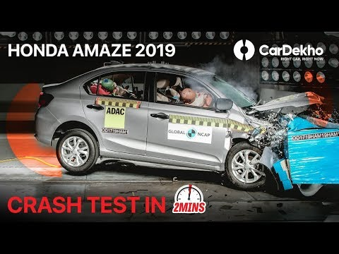 Honda Amaze Crash Test (Global NCAP) | Made In India Car Scores 4/5 Stars, But Only For Adults!|