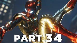 SPIDER-MAN PS4 Walkthrough Gameplay Part 34 - IRON SPIDER SUIT (Marvel's Spider-Man)