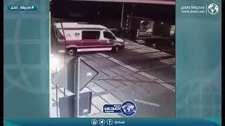 حادث مؤلم لسائق اسعاف