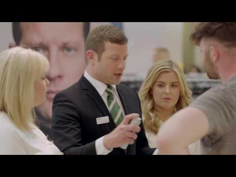 marksandspencer.com & Marks and Spencer Voucher Code video: Dermot O'Leary hits the shop floor with his new M&S grooming range