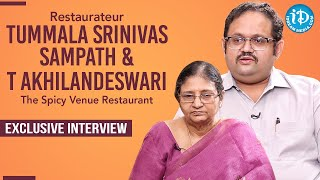 Restaurateur T Srinivas Sampath backslashu0026 Akhilandesawari Exclusive Interview | The Spicy Venue Restaurant - IDREAMMOVIES