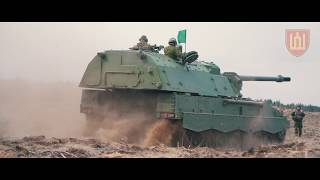The first combat shots of PzH2000 artillery systems of the Lithuanian Armed Forces
