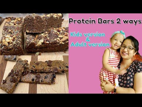 High Protein Bars 2 ways   Kids version & Adult version   Energy bars   School snacks  MomCafe
