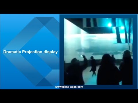Glass Apps® Dramatic Projection Display