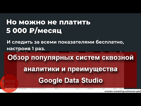 Обзор популярных систем сквозной аналитики и преимущества Google Data Studio