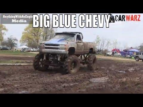 Blue Chevy Mud Bogging At Country Boys Spring Mud Bog 2019
