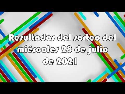 Lotería de Panamá - Resultados del sorteo del miércoles 28 de julio de 2021