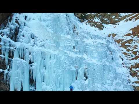 waterfall canyon ice climbing ogden utah