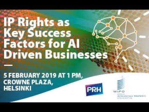 Panel Discussion on the Role of IP in the AI: Marco Aleman, Teemu Roos, Risto Bruun & Jari Muikku. Moderator: Mika Inki. Event website: www.prh.fi/IPRandAI