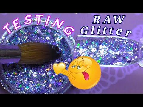 Testing Raw Glitters | Phoenix Glitter | ABSOLUTE NAILS