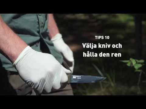 10. Välja kniv och hålla den ren
