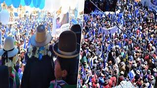 DAVID CHOQUEHUANCA en GRAN CONCENTRACIÓN EN LAHUACHACA CARRETERA LA PAZ ORURO - Elecciones Bolivia