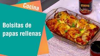 Receta de Secretos de Cocina de Unilever: Bolsitas de papas rellenas