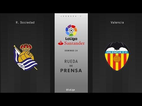Rueda de prensa R. Sociedad vs Valencia