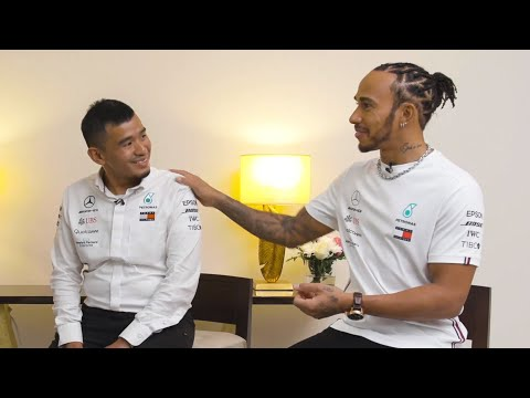 Lewis and the Team Say Goodbye to PETRONAS's Nasri