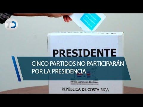 Cinco partidos no participarán por la Presidencia