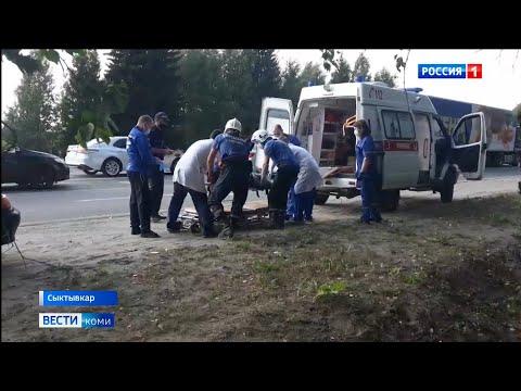 В Усть-Куломском районе под колеса иномарки попала девочка.Происшествия в Республике Коми 20.08.2021