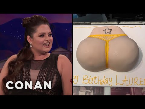 connectYoutube - Lauren Ash's Birthday Butt Cake  - CONAN on TBS