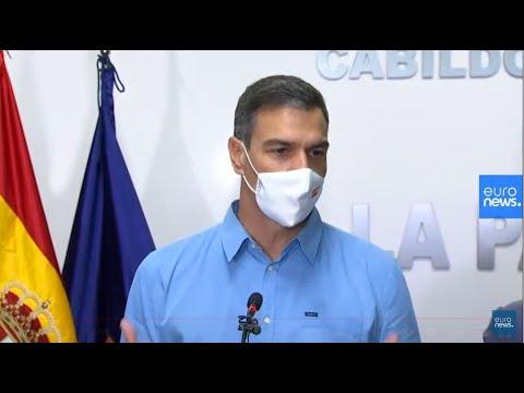 Pedro Sánchez explica la situación tras la erupción volcánica en La Palma