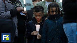 Niños en medio de las protestas y algunos sin protección para evitar el coronavirus
