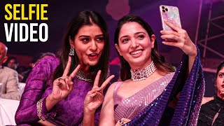 Actress Tamanna Bhaita And Payal Rajput Cute Selfie Video @ Aha Event | TFPC Exclusive - TFPC