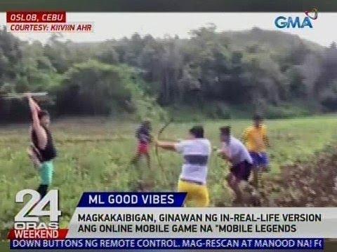 24 Oras: Magkakaibigan, ginawan ng in-real-life version ang online mobile game na 'Mobile Legends'