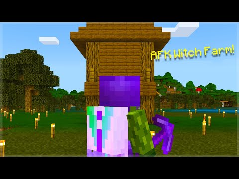 🔴AFK Witch Farm Bedrock Edition   Minecraft Survival Stories!🔴