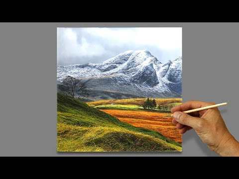 #122 Time Lapse | Painting a Mountain