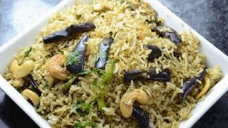 Spicy Pulao with Stir fry Brinjals ..