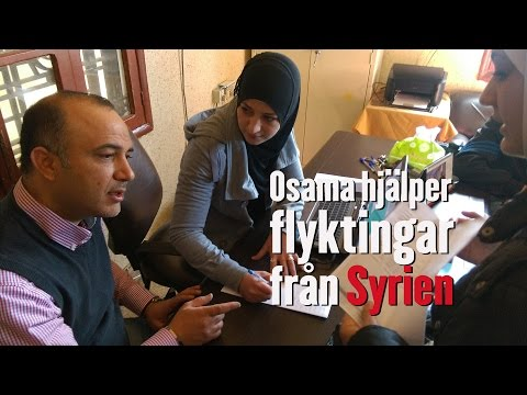 Osama kämpar för flyktingarna från Syrien