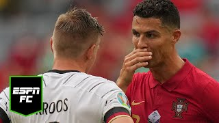 'Come back to Real Madrid' - Toni Kroos to Cristiano Ronaldo probably ????????   #Shorts   ESPN FC