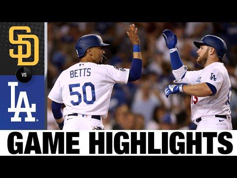 Padres vs. Dodgers Game Highlights (9/10/21)   MLB Highlights