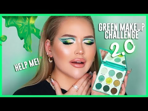 The ULTIMATE Green Look! GREEN MAKEUP CHALLENGE 2.0