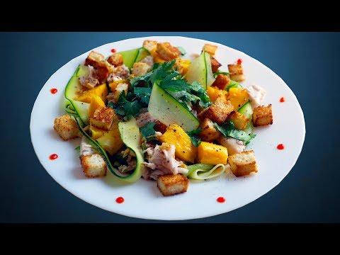 Яркий салат с манго и курицей   Азиатская вкуснятина