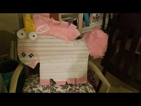 DIY- How to Make A Minion Unicorn Pinata