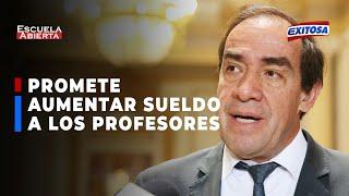 ????????Elecciones 2021: Yonhy Lescano prometió aumentar de sueldo a los profesores