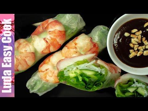 Супер Закуска СВЕЖИЕ РОЛЛЫ Вьетнамская кухня Вкусно и Просто