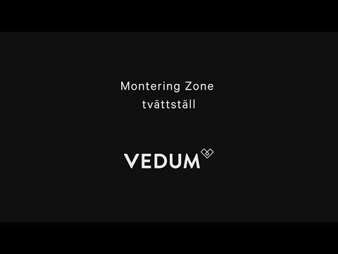 Montering Zone tvättställ