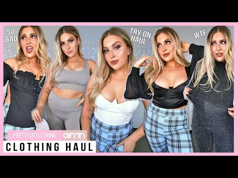 TRY ON CLOTHING HAUL! ? *some fails* ? Pretty Little Thing & Aim'n Activewear