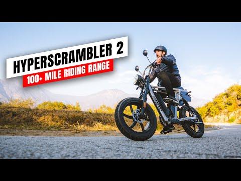 Juiced Bikes HyperScrambler 2 - 100+ Mile Riding Range E-Bike