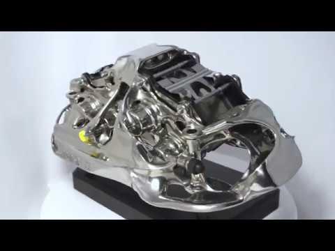 Bugatti Titanium Brake Caliper from 3D Printer