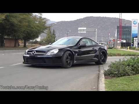 Mercedes Benz SL65 AMG Black Series Renntech - Hace TREMENDO BURNOUT