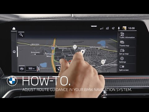 How to adjust route guidance in your BMW navigation system – BMW How-To