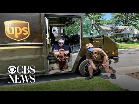 UPS driver surprises 2-year-old fan on birthday