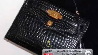 d264d660ba GIANNI VERSACE COUTURE CROCODILE HERMES KELLY BAG 1997 - YouTube