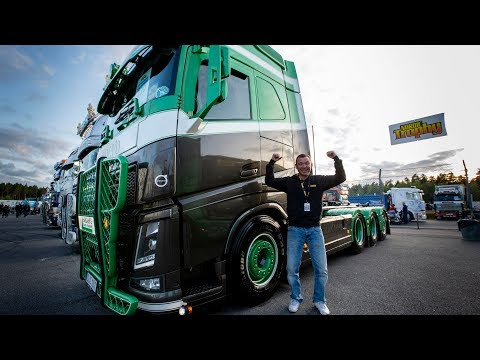 "Volvo Trucks - Back to the future in a metallic green Volvo FH16 750 - ""Welcome to my cab - light"""