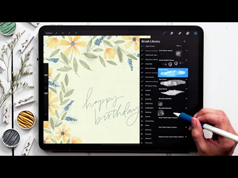 Paint Spring Birthday Florals in Procreate