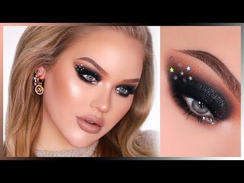SPARKLY BLACK NYE SMOKEY EYES In-Depth Makeup Tutorial